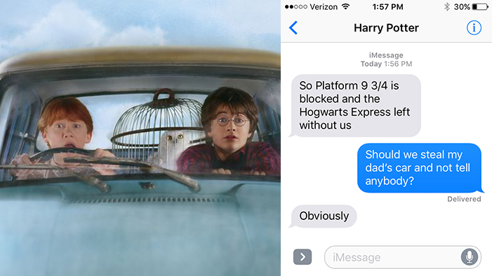 Harry Potter and the Chamber of Secrets, As Told in a Series of Texts