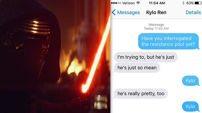 If Kylo Ren Could Text
