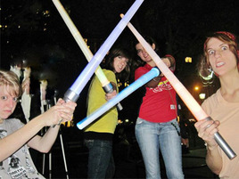 The Great New York Lightsaber Battle of 2011
