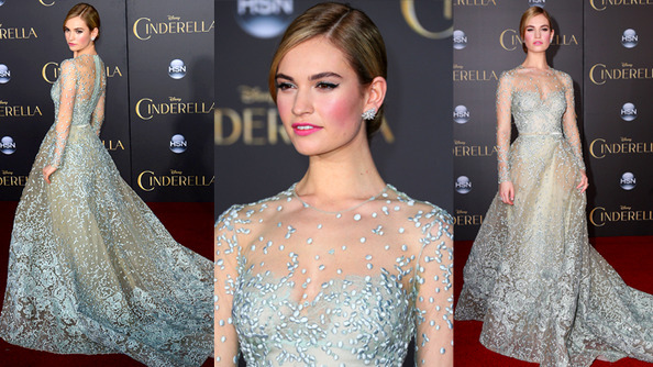 Lily James Is ACTUALLY CINDERELLA at the Latest <em>Cinderella</em> Premiere