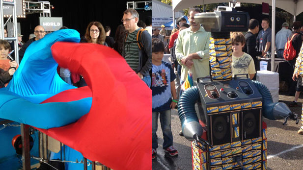 There Were Six Foot Tall Robot Thumbs at The Maker Faire!