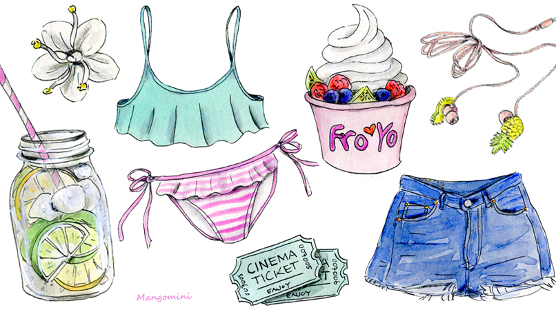 The Dreamiest Illustrations of Summer Essentials