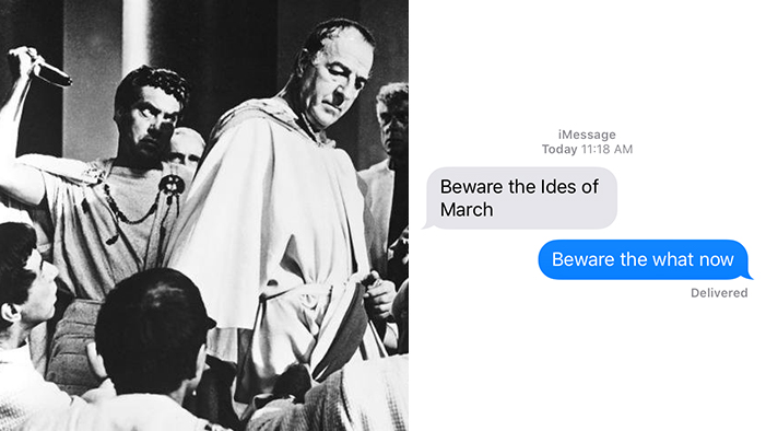 <i>Julius Caesar</i> As Told in a Series of Texts