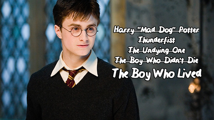 50 Rejected Nicknames for Harry Potter