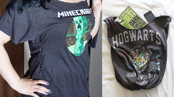 Got Old Frumpy T-Shirts? A Little Lazy Girl Crafty Time Will Revamp Your Summer Style!
