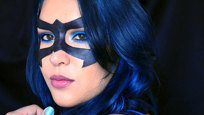 These Blues Will Blow You Away: Nightwing Cosplay Makeup for Comic Con!