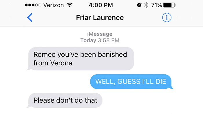 The 13 Biggest Overreactions in Literature, As Told in Texts