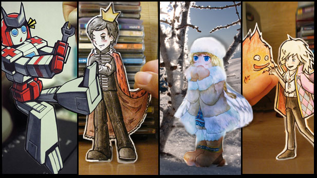"Ridiculously Adorable Art Called ""Paper Children"""