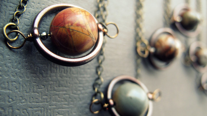 Take a Trip to Another World with These Sci-Fi Planet Necklaces!