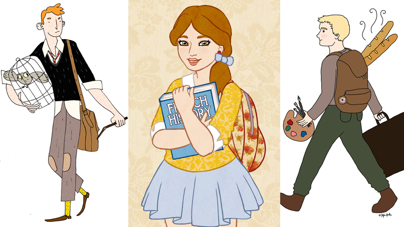 Your Fave Fictional Characters Get Back-to-School Makeovers