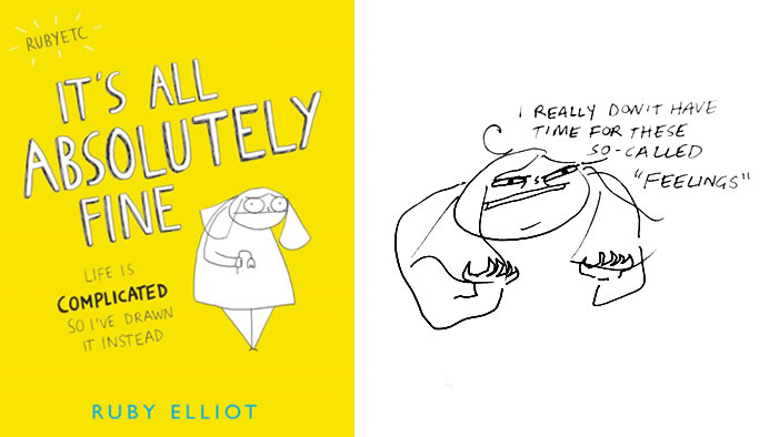 Rubyetc's New Book of Honest Mental Health Drawings Is a MUST-READ