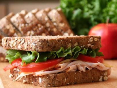 Snack o bocadillo saludable: sandwich