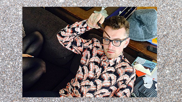 Sam Smith Went Nuts Over a Harry Potter Wand