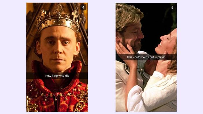 Snapchats from Shakespeare