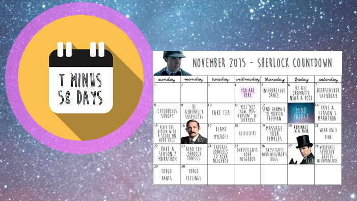 <i>Sherlock</i> Special Episode Countdown Calendar