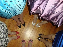 Why Are Those Young Women Taking Photos of Their Shoe Circle?