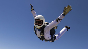 Some Crazypants Guy is Skydiving From Space!
