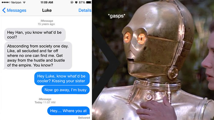 Texts From Star Wars Characters