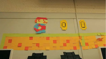 Super Mario...With Post-Its?