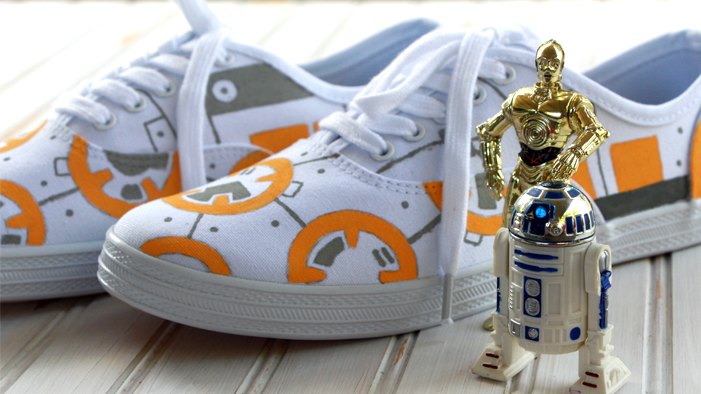 Awaken the Crafting Force with These ADORBS DIY BB-8 Sneakers