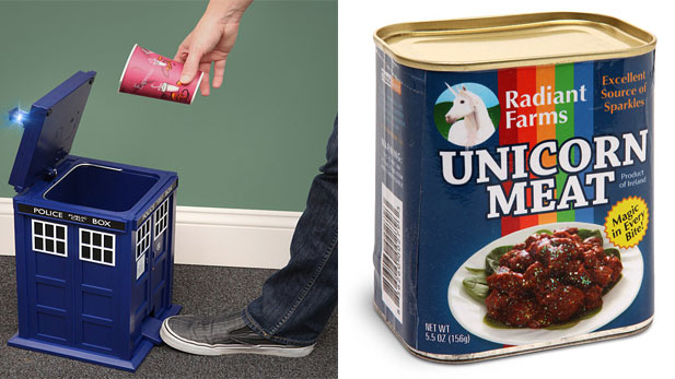 Doctor Who Trash Cans to Unicorn Meat... All on One Site!
