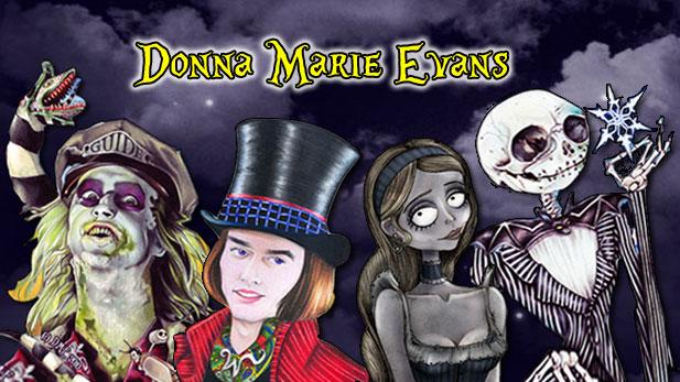 The Tim Burton Fan Art Of Donna Marie Evans