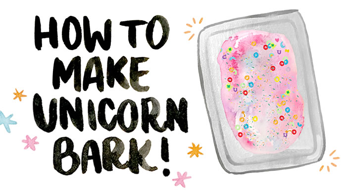 Summer Recipe: How to Make *~Unicorn Bark~*