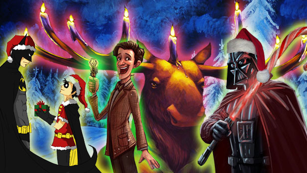 Geek-tastic Holiday Art!