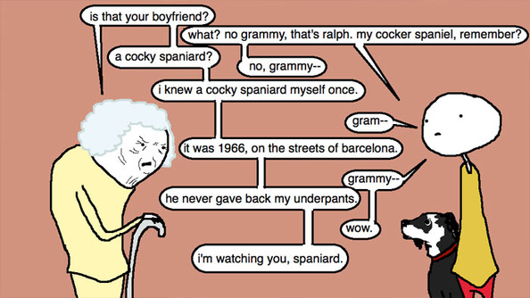 Auntie SparkNotes: I'm a Lesbian, but My Grandma Thinks I'm in Love With an Older Man