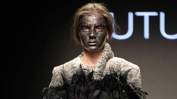 UH OH: Claudio Cutugno Tried Out Black Sparkle Face at His Milan Fashion Show