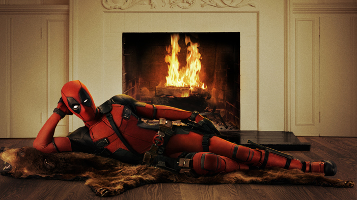 Good Stop The Internet And Look At This Picture Of Deadpool Lounging On A Bearskin  Rug
