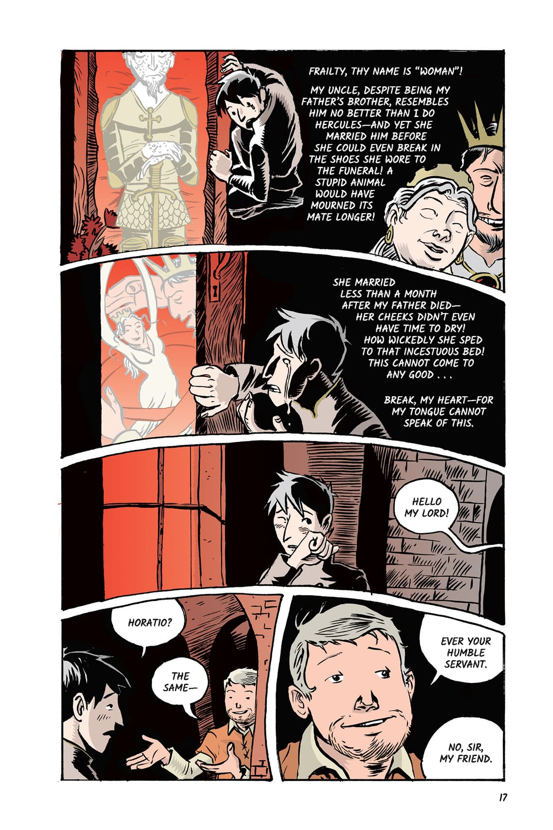 Hamlet Act 1 Scene 2 Page 17 Graphic Novel Sparknotes No Fear Shakespeare