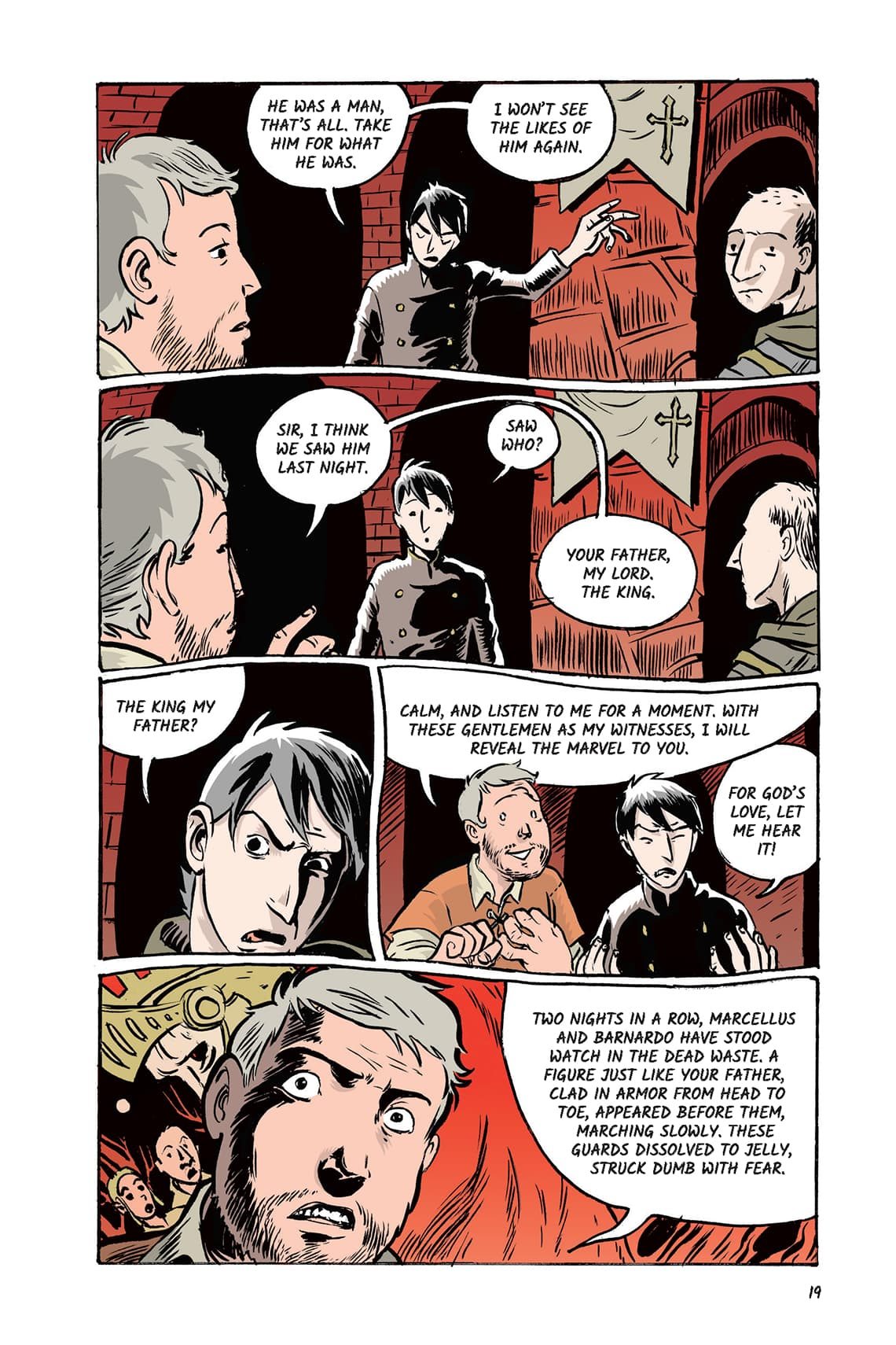 Hamlet Act 1 Scene 2 Page 19 Graphic Novel Sparknotes No Fear Shakespeare