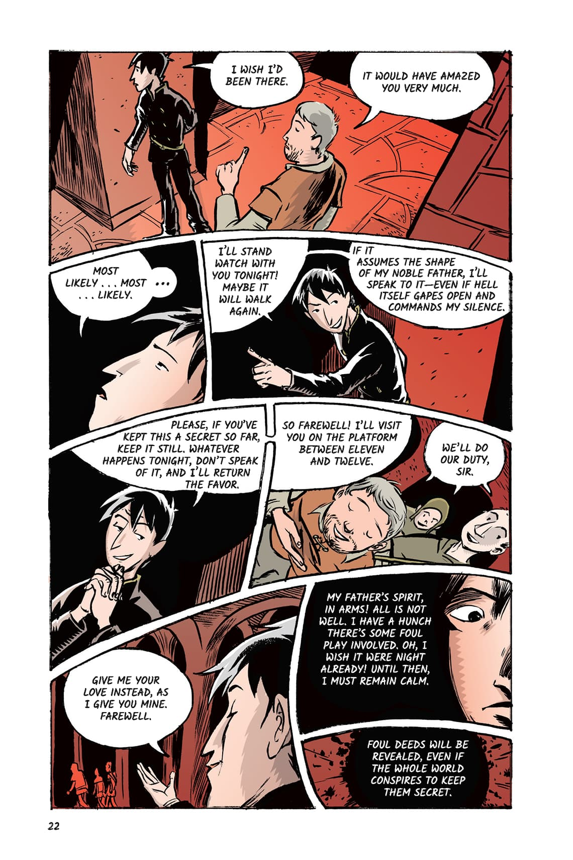 Hamlet Act 1 Scene 2 Page 22 Graphic Novel Sparknotes No Fear Shakespeare
