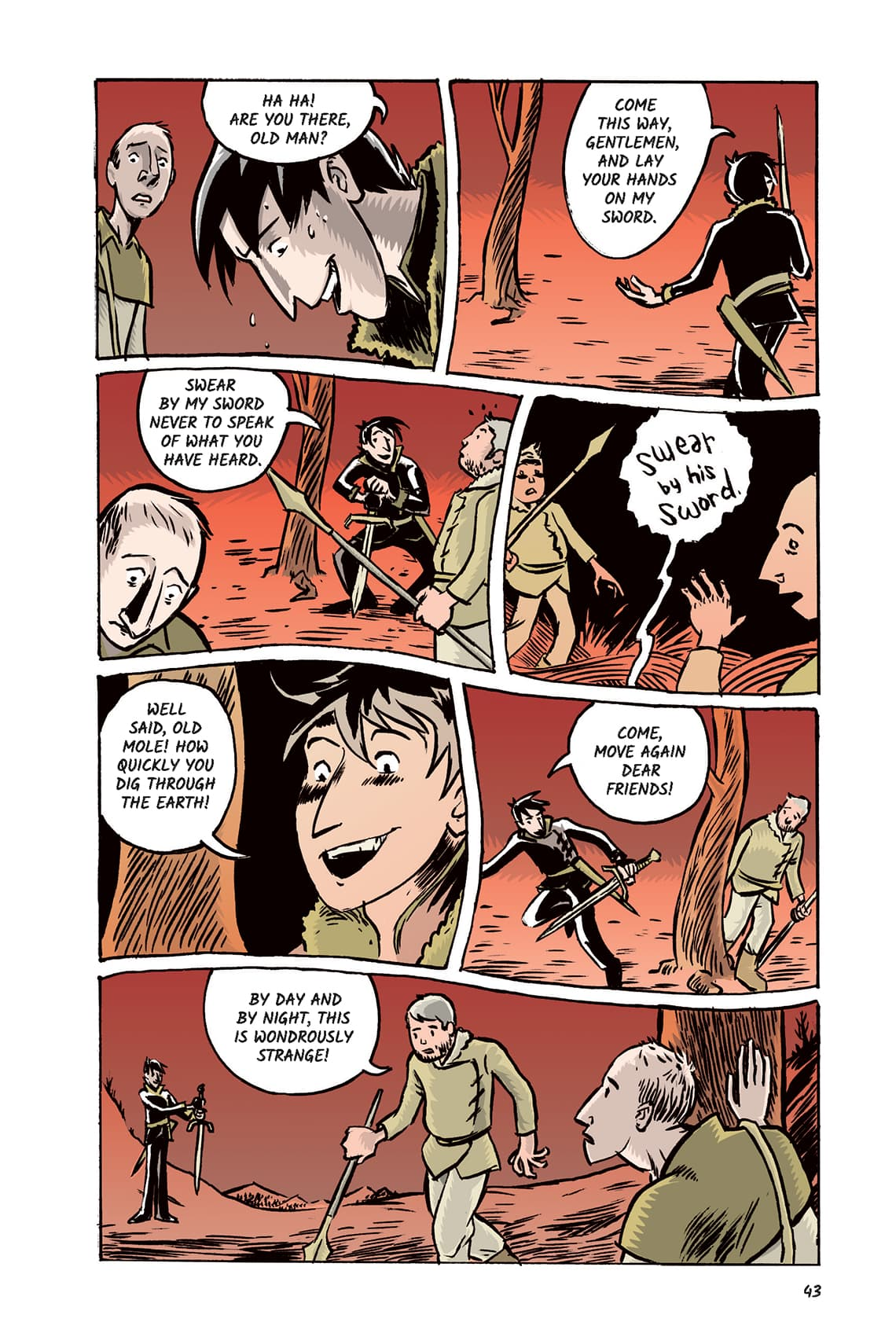 Hamlet Act 1 Scene 5 Page 43 Graphic Novel Sparknotes No Fear Shakespeare