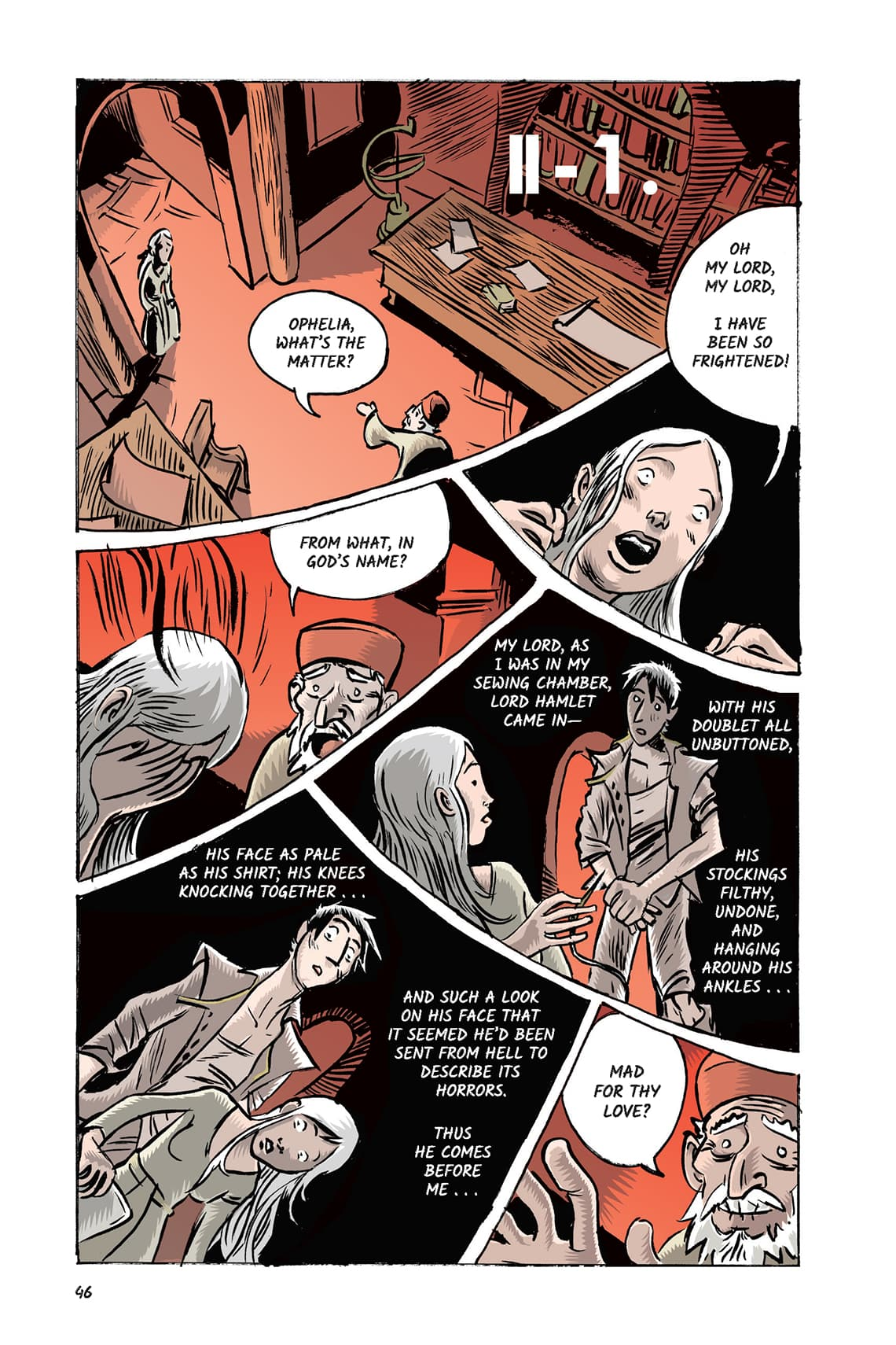 Hamlet Act 2 Scene 1 Page 46 Graphic Novel Sparknotes No Fear Shakespeare