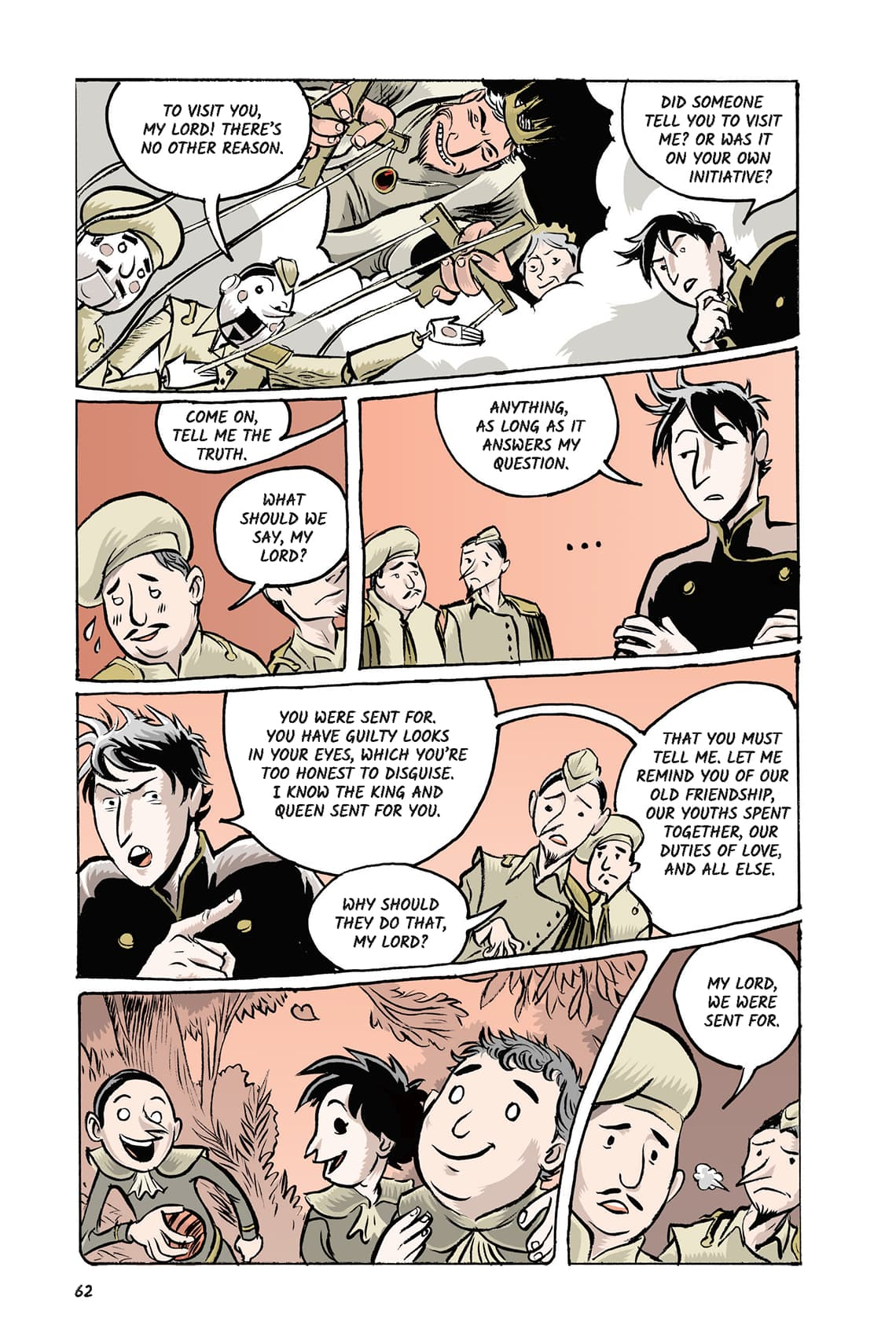 Hamlet Act 2 Scene Page 62 Graphic Novel Sparknotes No Fear Shakespeare 1