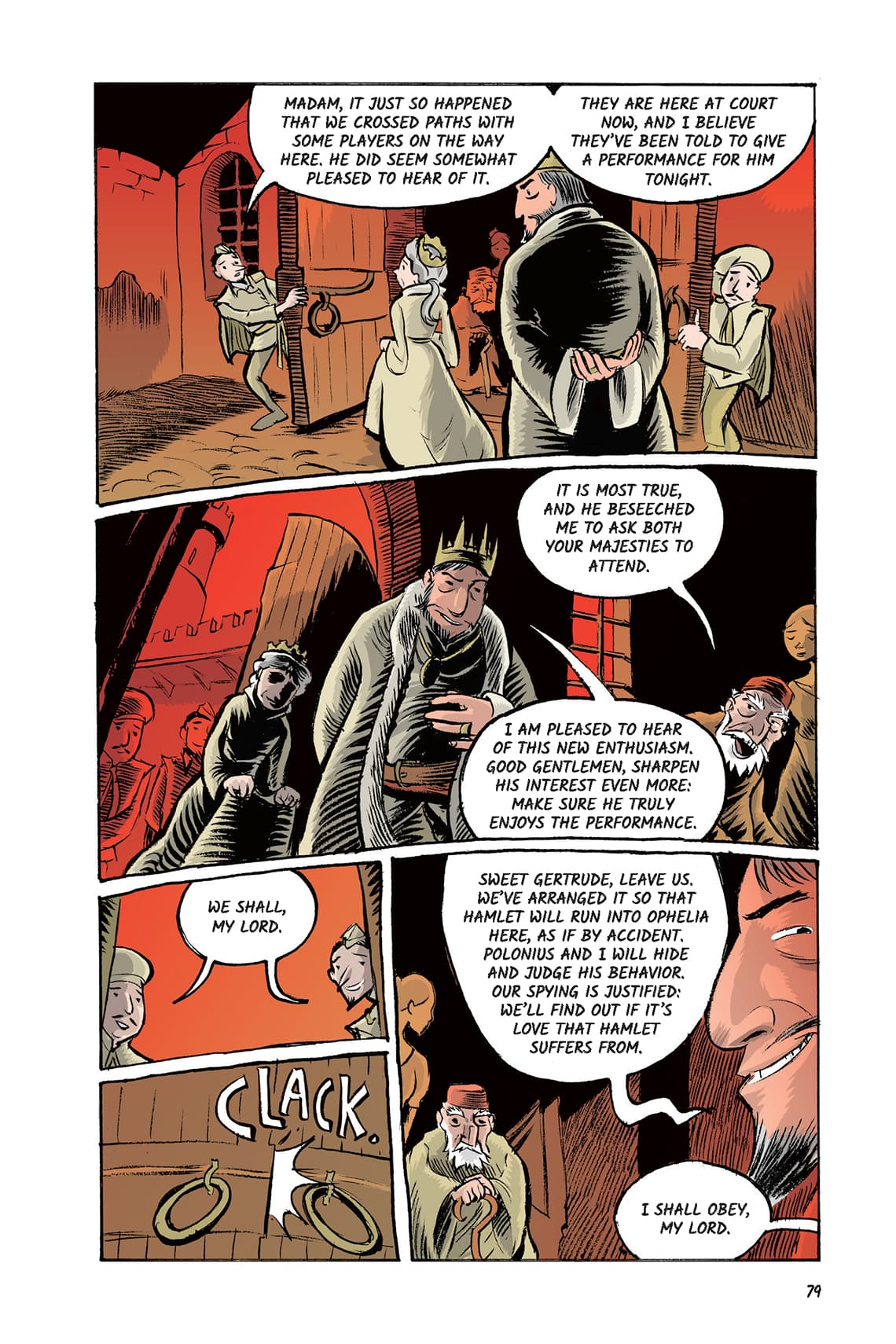 Hamlet Act 3 Scene 1 Page 79 Graphic Novel Sparknotes No Fear Shakespeare