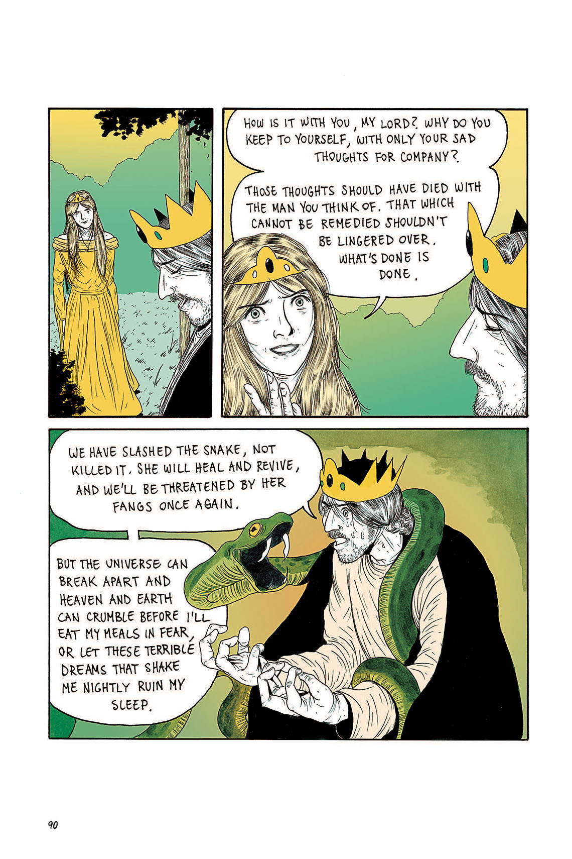 Macbeth Act 3 Scene 2 Page 90 Graphic Novel Sparknotes Sparknote 4 6