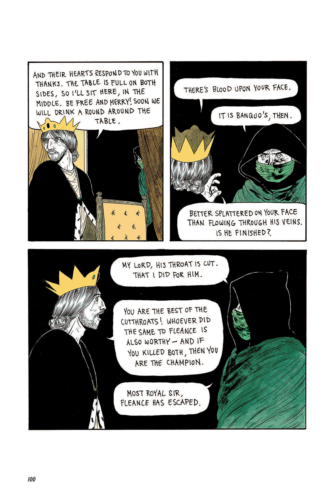 Macbeth Act 3 Scene 4 Page 100 Graphic Novel Sparknotes Sparknote 6