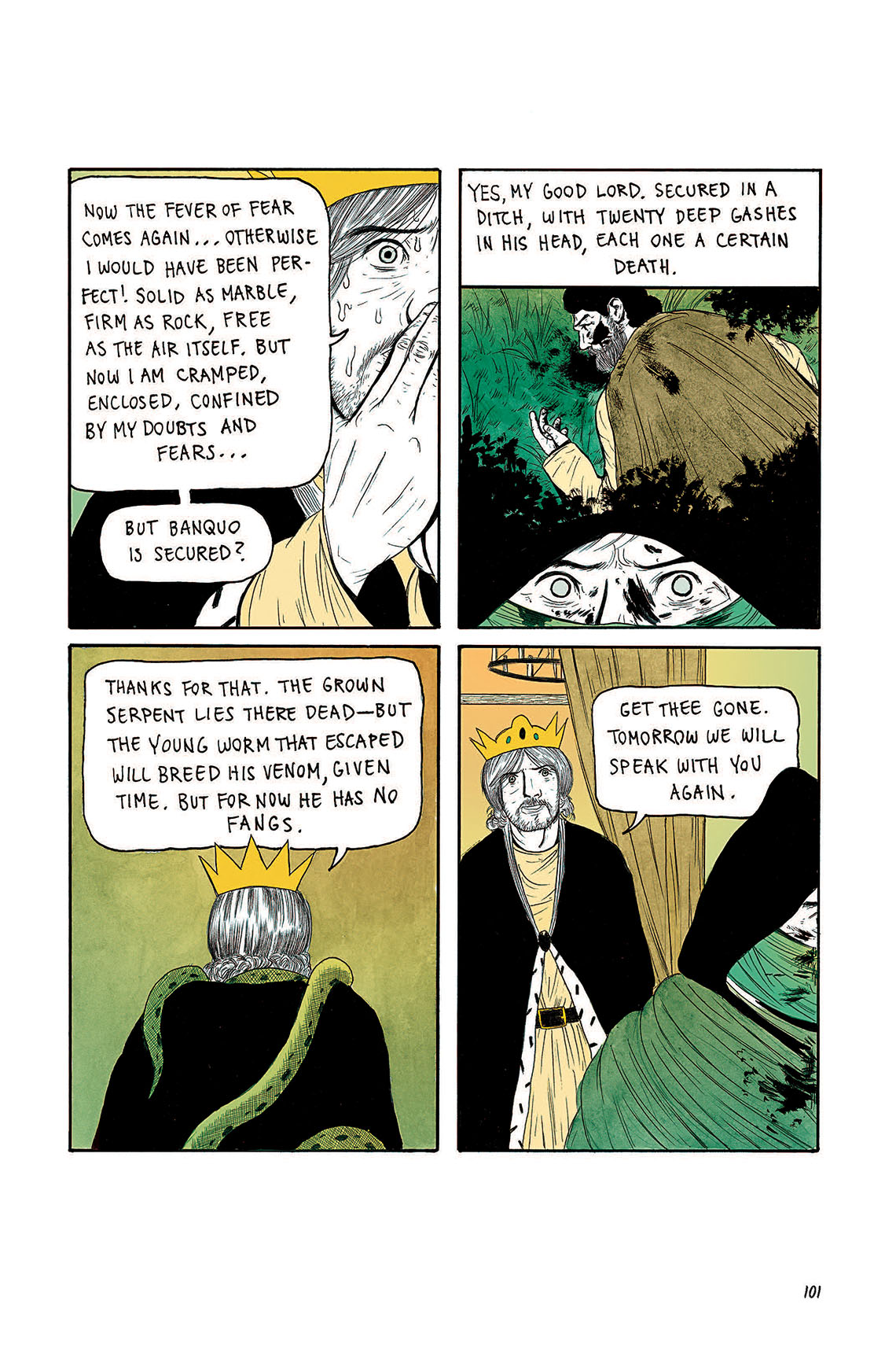 Macbeth Act 3 Scene 4 Page 101 Graphic Novel Sparknotes Sparknote 6