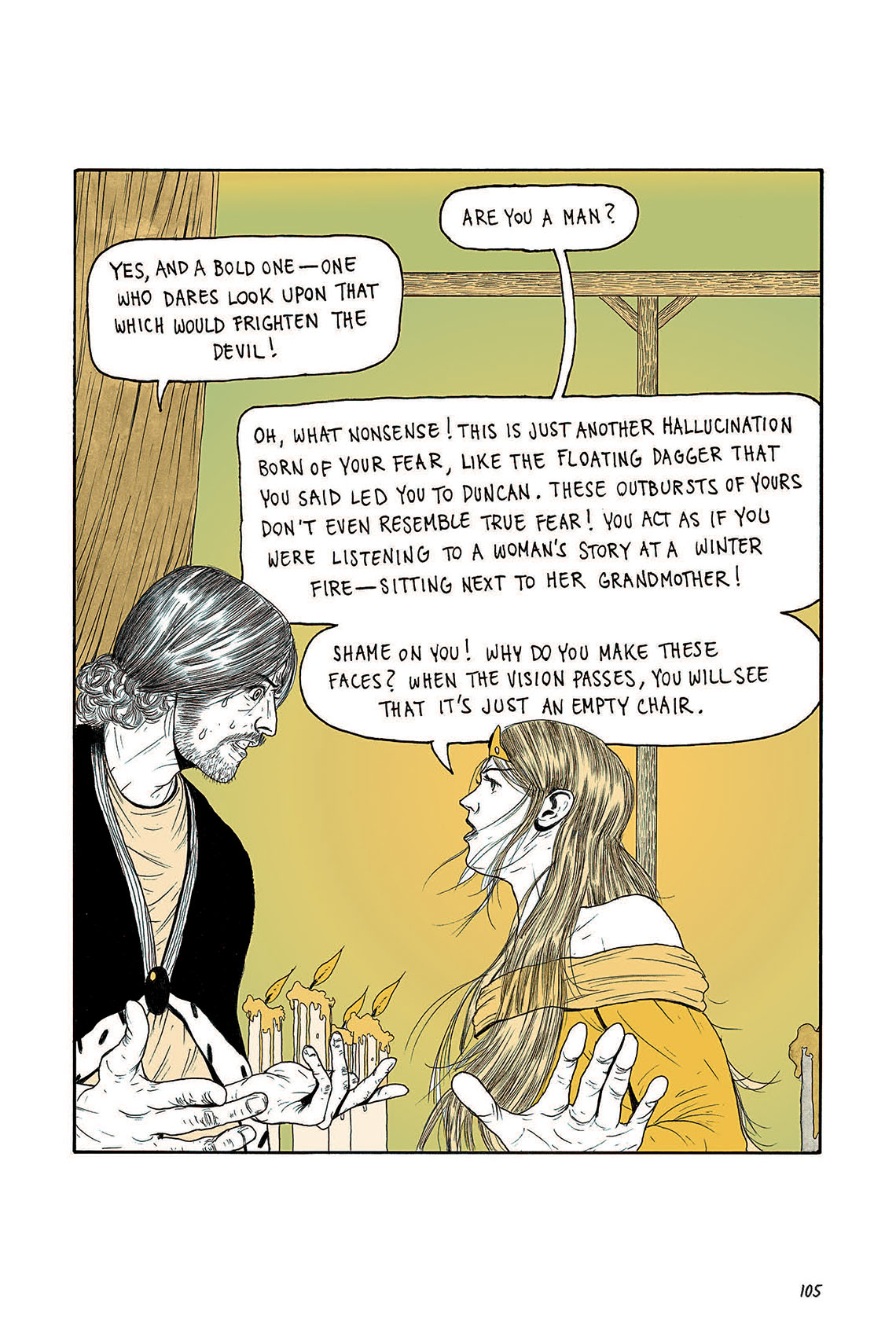 Macbeth Act 3 Scene 4 Page 105 Graphic Novel Sparknotes Sparknote 6
