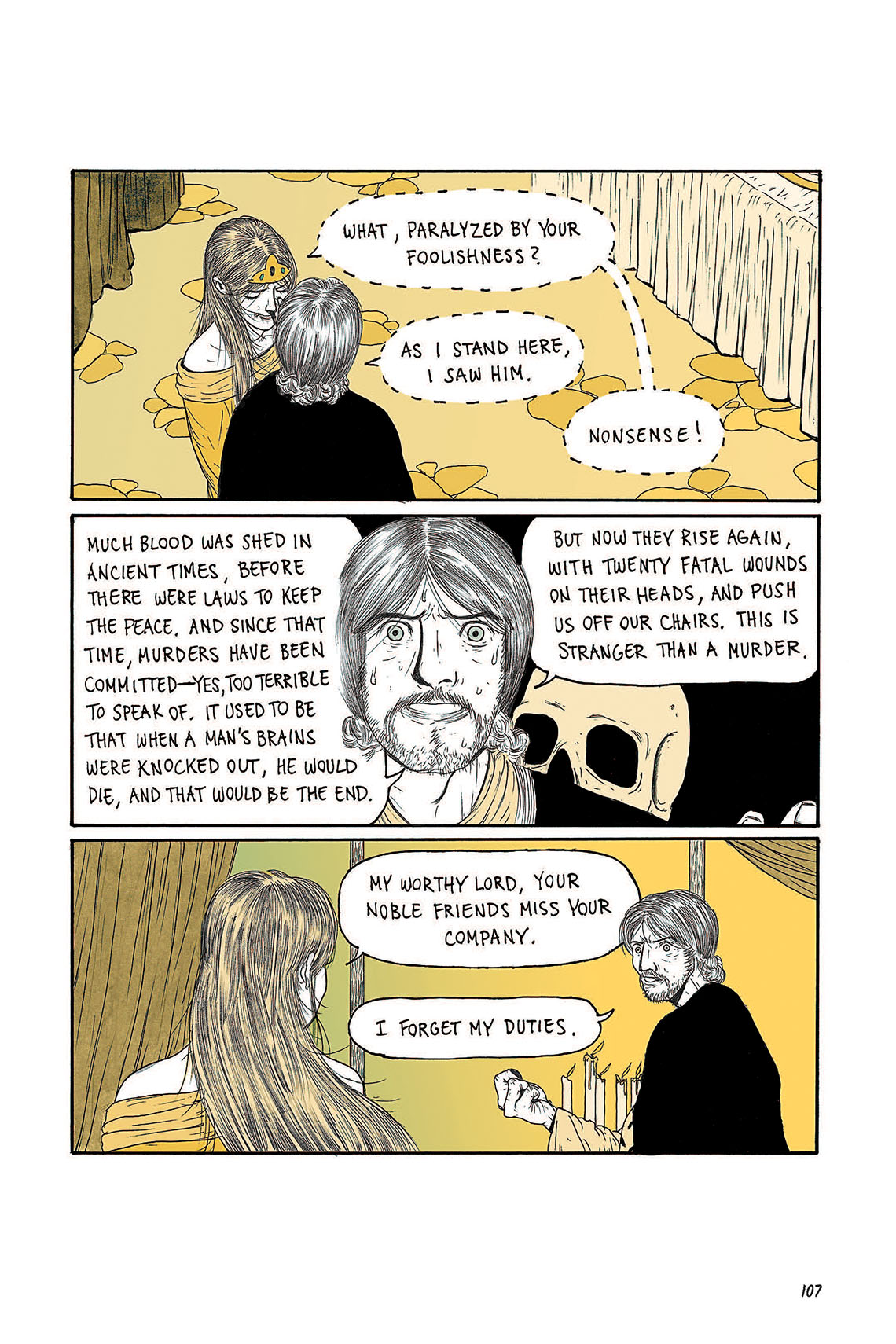 Macbeth Act 3 Scene 4 Page 107 Graphic Novel Sparknotes Sparknote 6