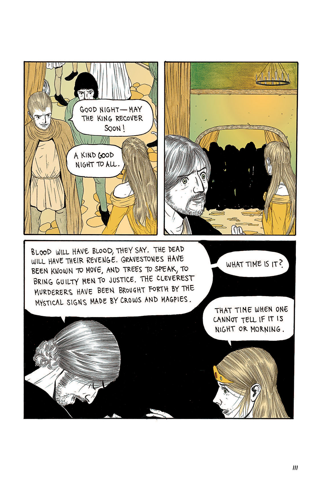 Macbeth Act 3 Scene 4 Page 111 Graphic Novel Sparknotes Sparknote 6