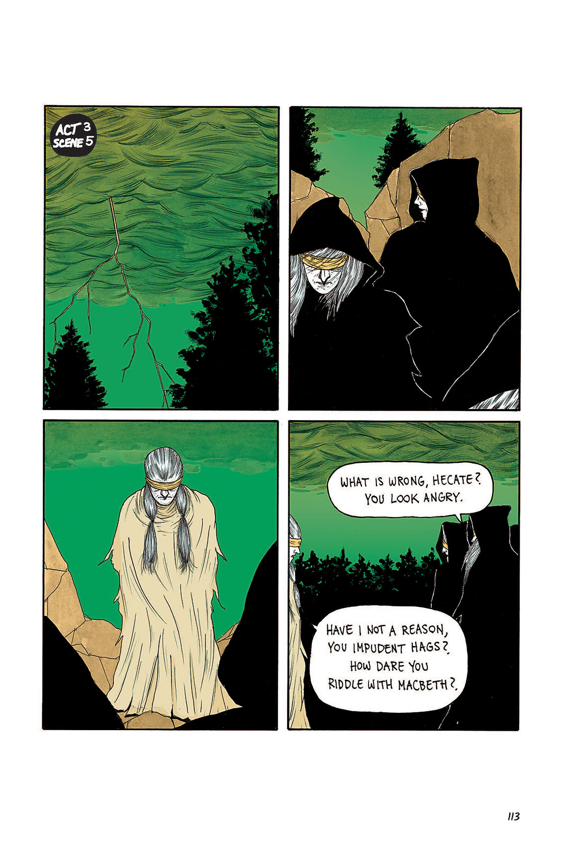 Macbeth Act 3 Scene 5 Page 113 Graphic Novel Sparknotes Sparknote 4 6