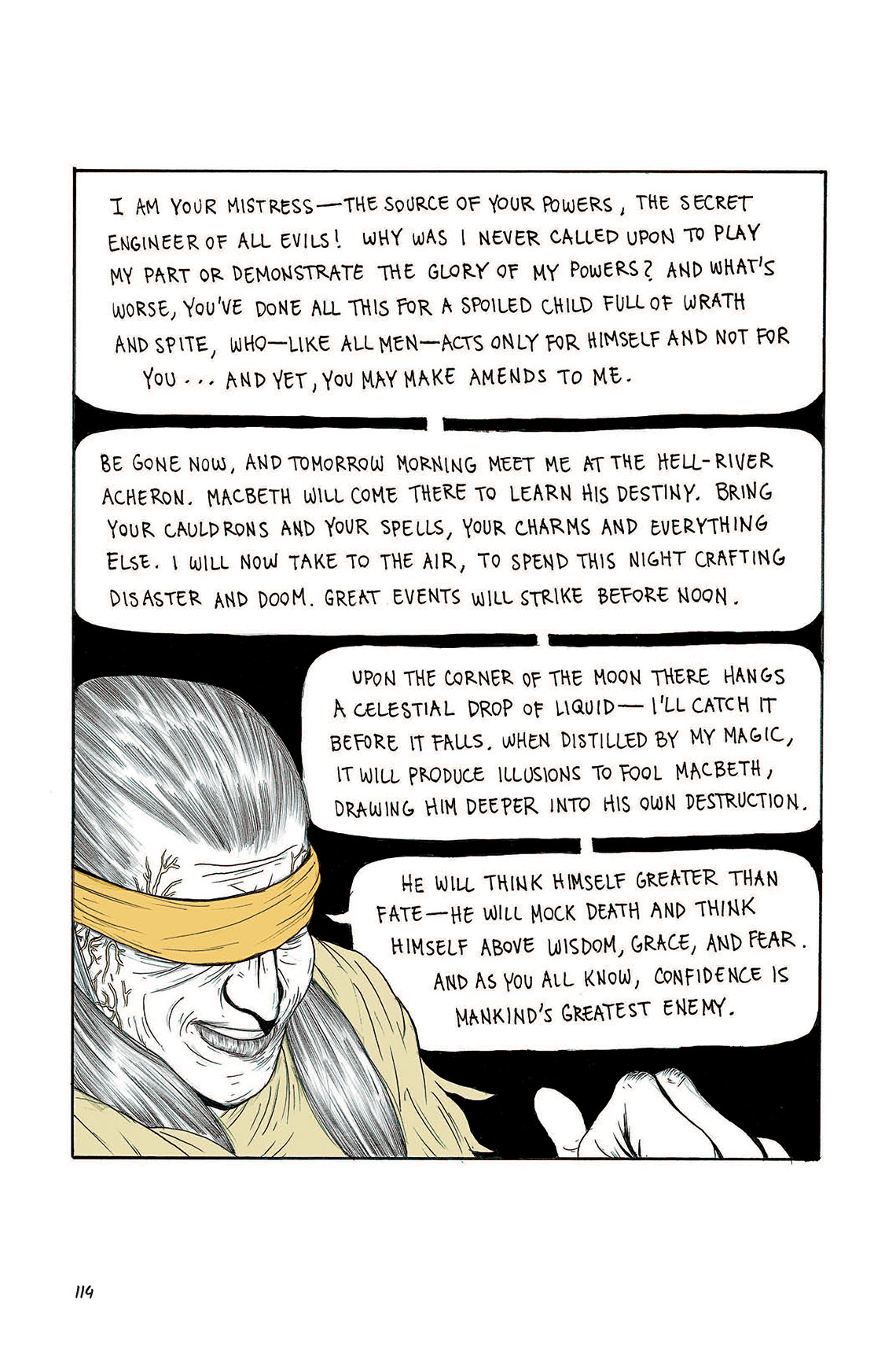 Macbeth Act 3 Scene 5 Page 114 Graphic Novel Sparknotes Juliu Caesar 2 Summary Sparknote